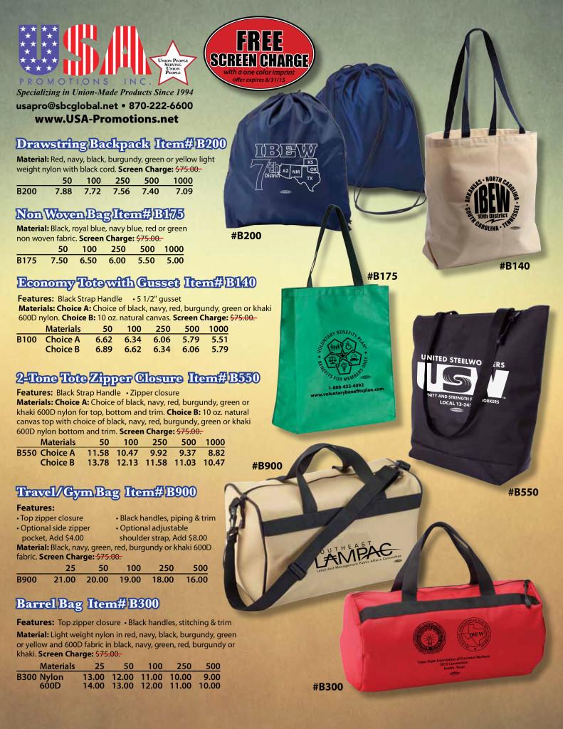 USA Promotions Bag Flyer